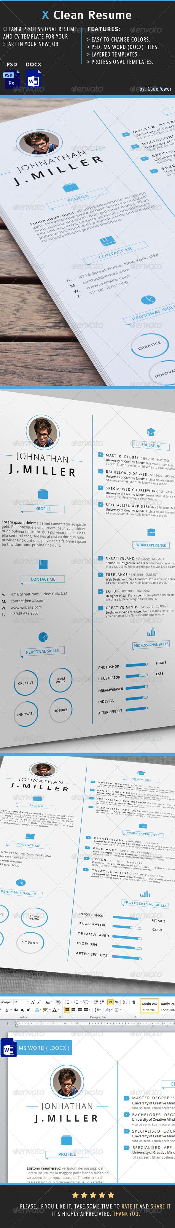 X Clean Resume by khaledzz9