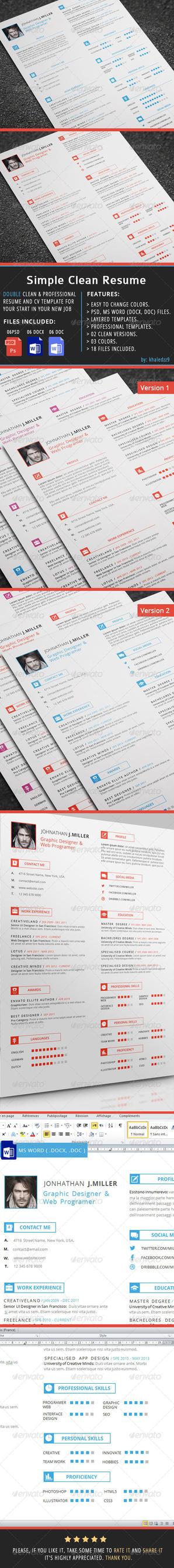 Simple Clean Resume by khaledzz9