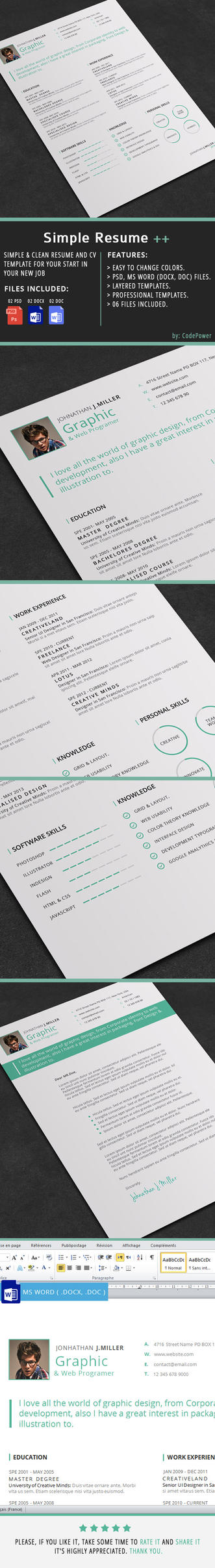 Simple Resume by khaledzz9