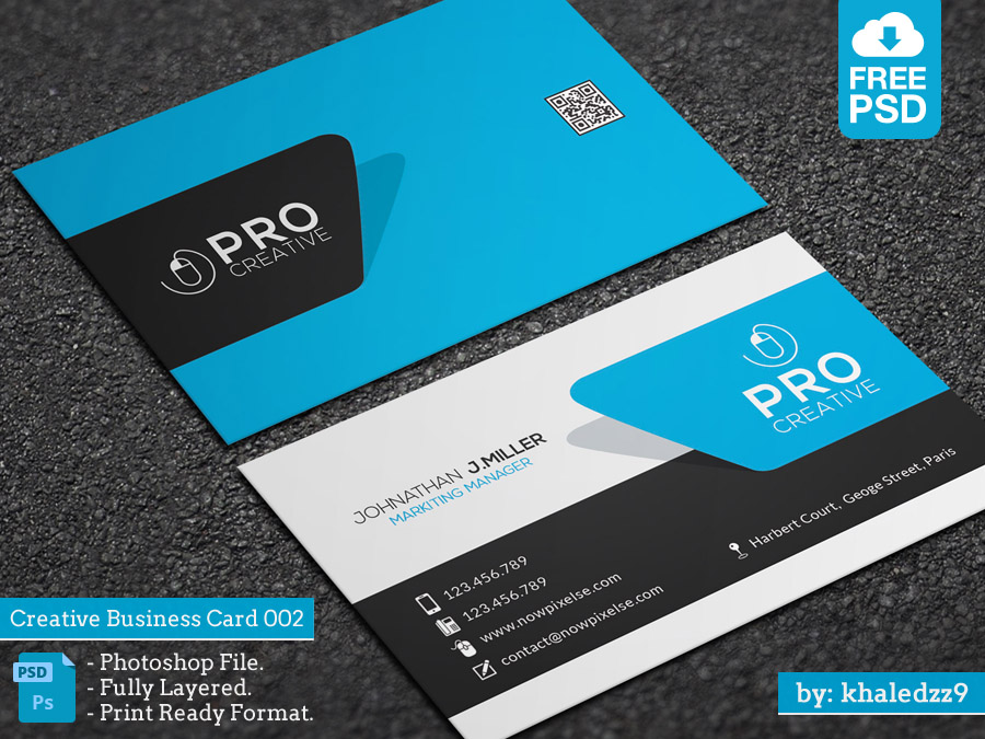 Creative Business Card 002 by khaledzz9 on DeviantArt