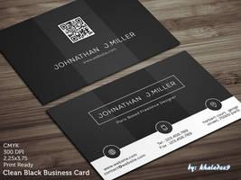 Clean Black Business Card by khaledzz9