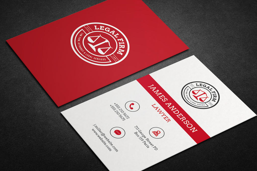 Lawyer Business Card vol.01 by khaledzz9 on DeviantArt