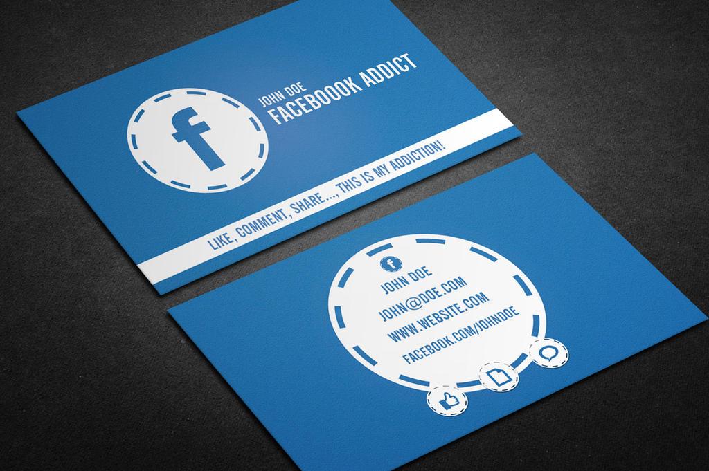 Facebook Addict - Business Card by khaledzz9