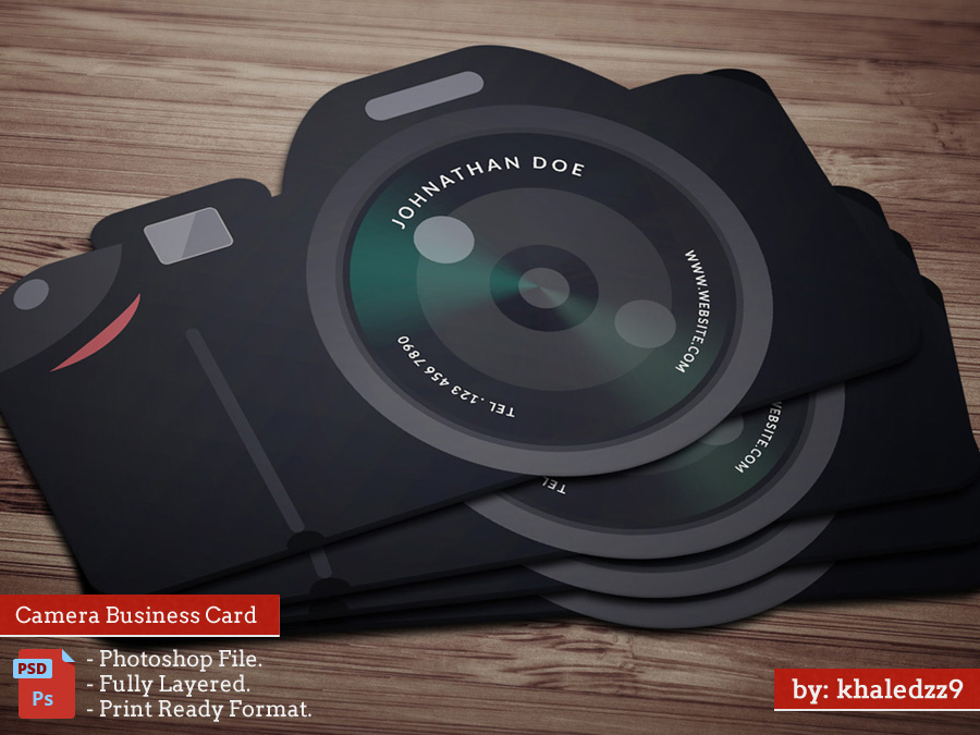 Flat camera business card by khaledzz9 on deviantart flat camera business card by khaledzz9 reheart Images