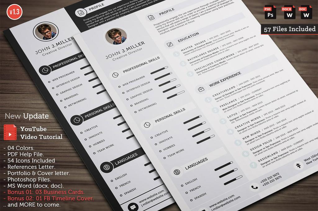 Clean Cv Resume By Khaledzz9 On Deviantart
