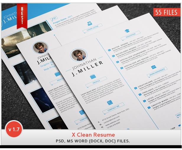 X Clean Resume 1.7 ( 2015 ) by khaledzz9