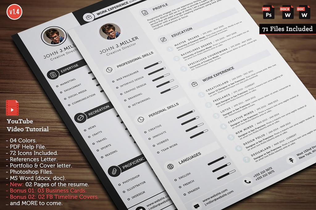 Clean CV Resme v1.4 by khaledzz9