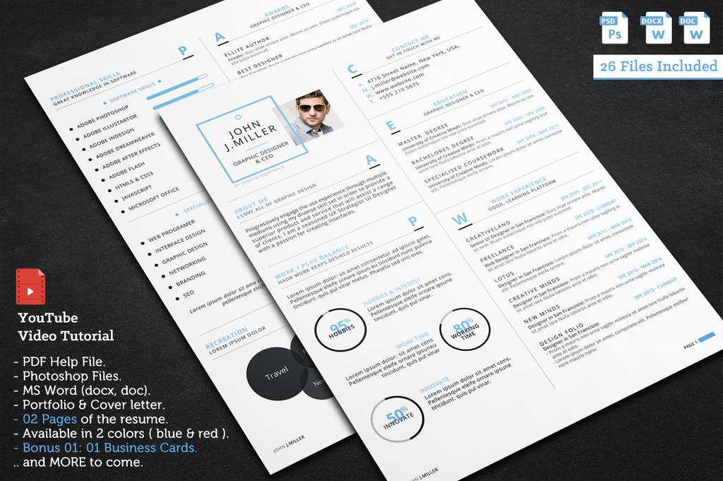 The Clean Resume by khaledzz9