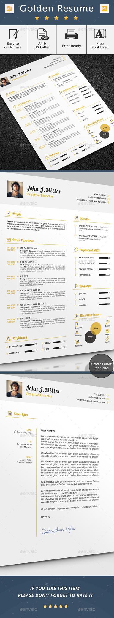 Golden Resume by khaledzz9