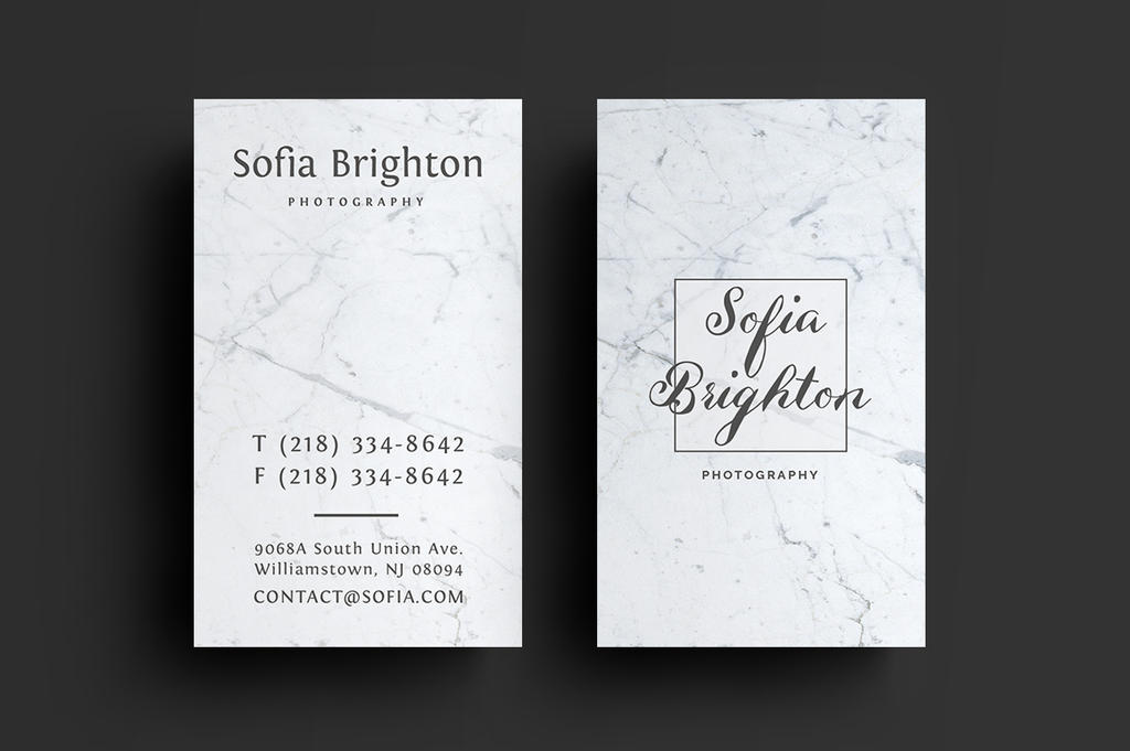 Marble Photography Business card by khaledzz9