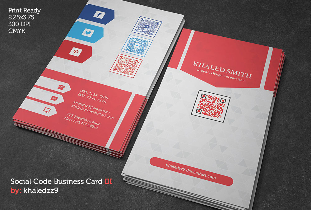 Social Code Business Card III by khaledzz9