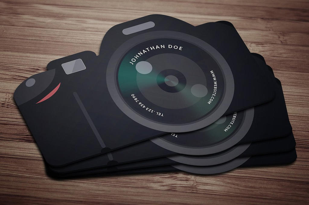 Flat Cam Business Card by khaledzz9