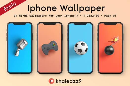 Iphone X Wallpaper (Pack 02) - Exclu