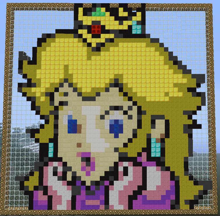 Princess Peach Minecraft Pixel Art By Hezah On Deviantart