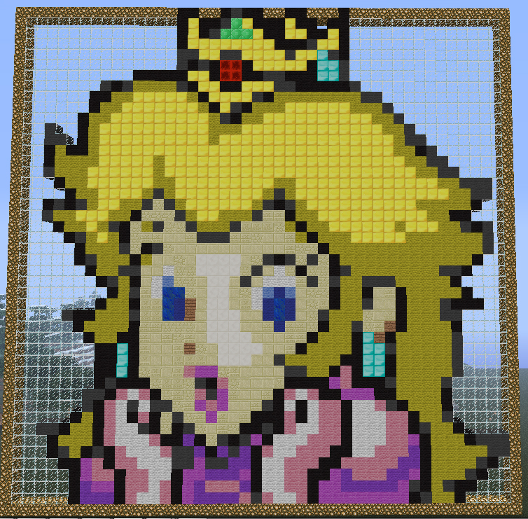 Princess Peach Minecraft Pixel Art By Hezah On DeviantArt