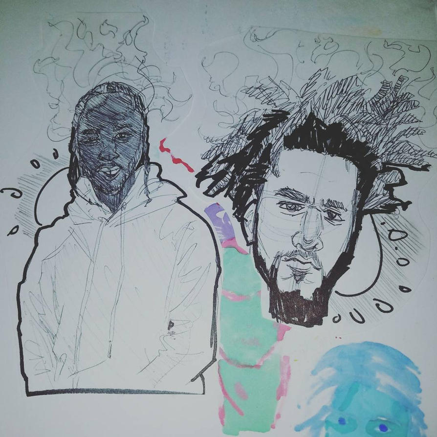 Kendrick and Cole (G.O.A.Ts) by Paulie-da-artist