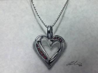 Metal Heart Pendant by PencilRick