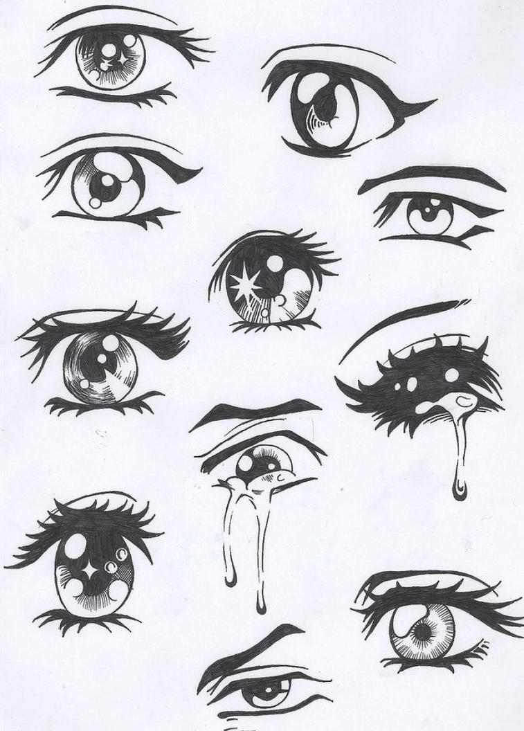 It is a photo of Simplicity Different Types Of Eyes Drawing