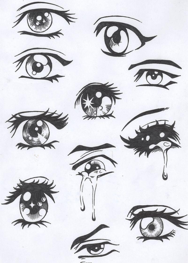 How to draw sad anime