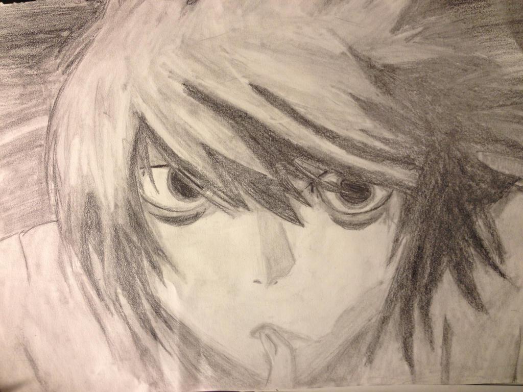 L from Death Note by ZalphaNekoChan