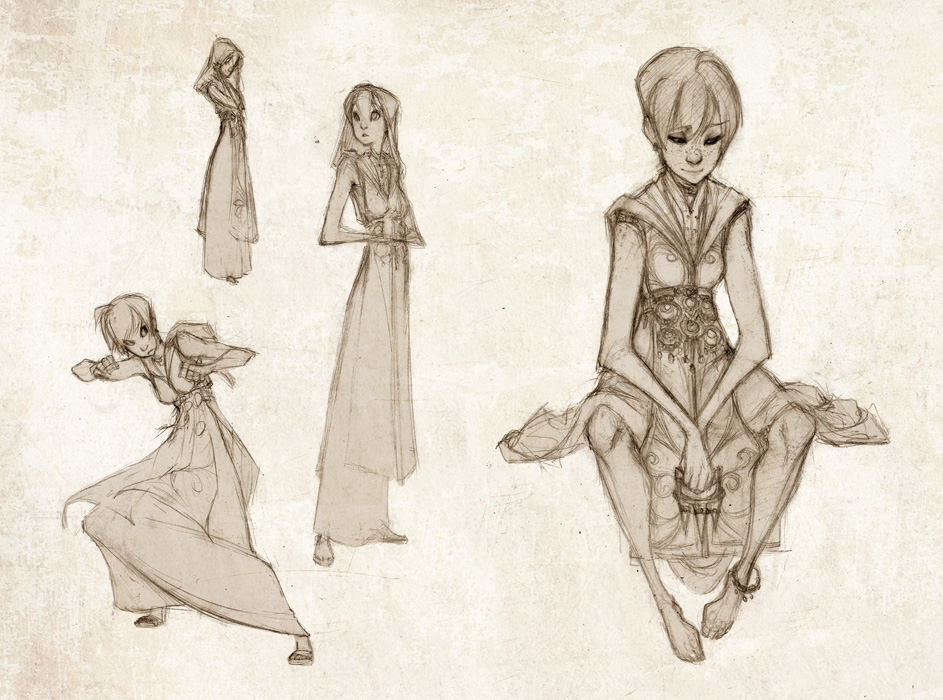 Olivia Sketches by RedBeanViolin