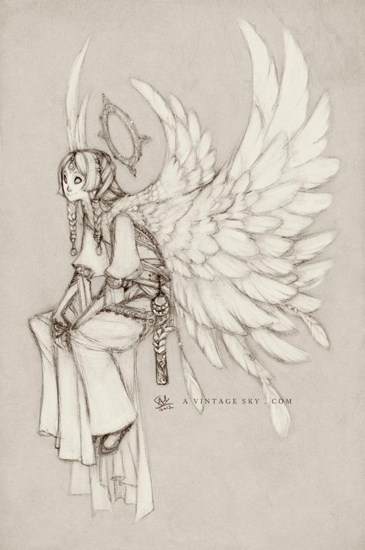 Orias Sketch by RedBeanViolin