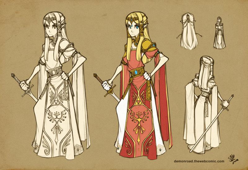 Zelda Costume Concept by RedBeanViolin