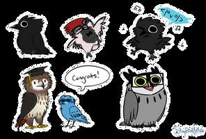Stickers - birbs by StoryBirdArtist