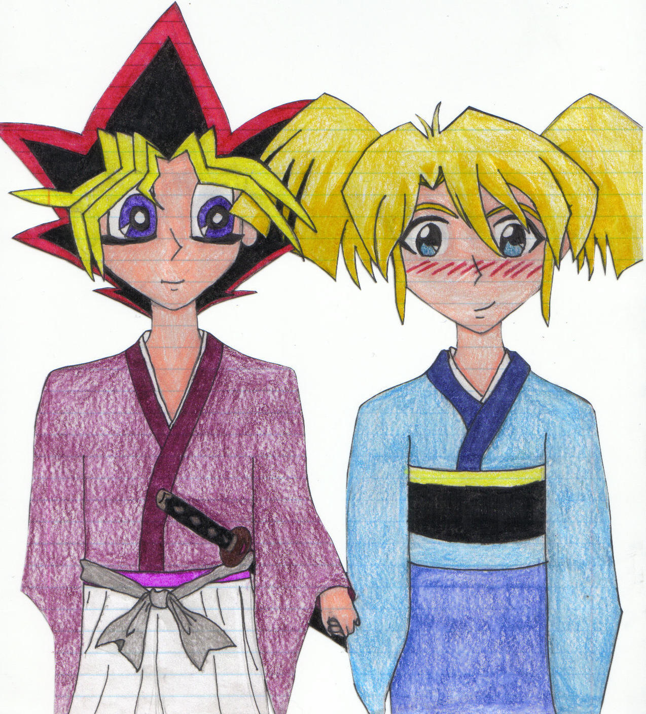 Yugi and Rebecca Request Color by pharaohatemuYouTube