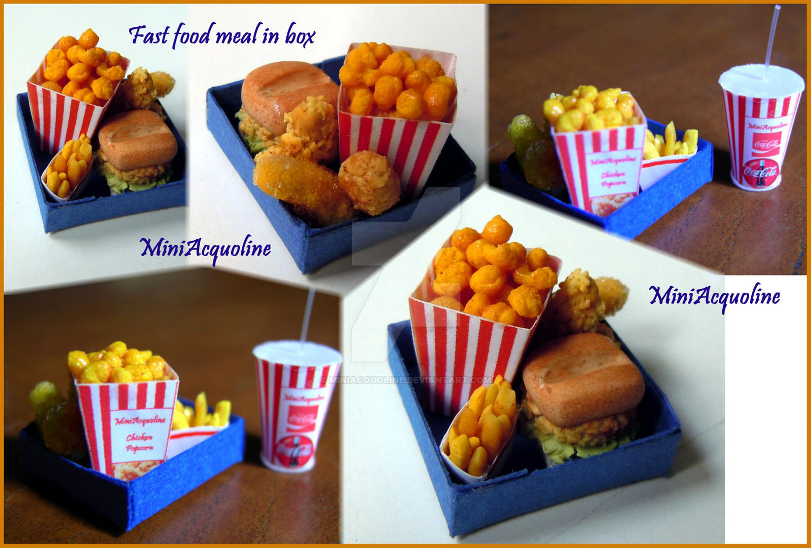 Mini Box Of Fast Food Meal By Miniacquoline