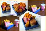 Mini Box of fast food meal