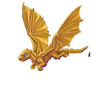 Golden Pern dragon by Killishandra
