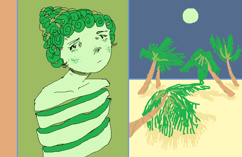Portrait in green by nopesoap