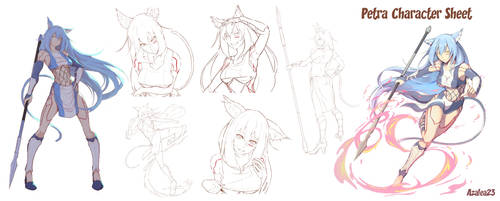Petra Character Sheet Commission