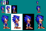 Sonic Stars- Sonic Sprite WIP