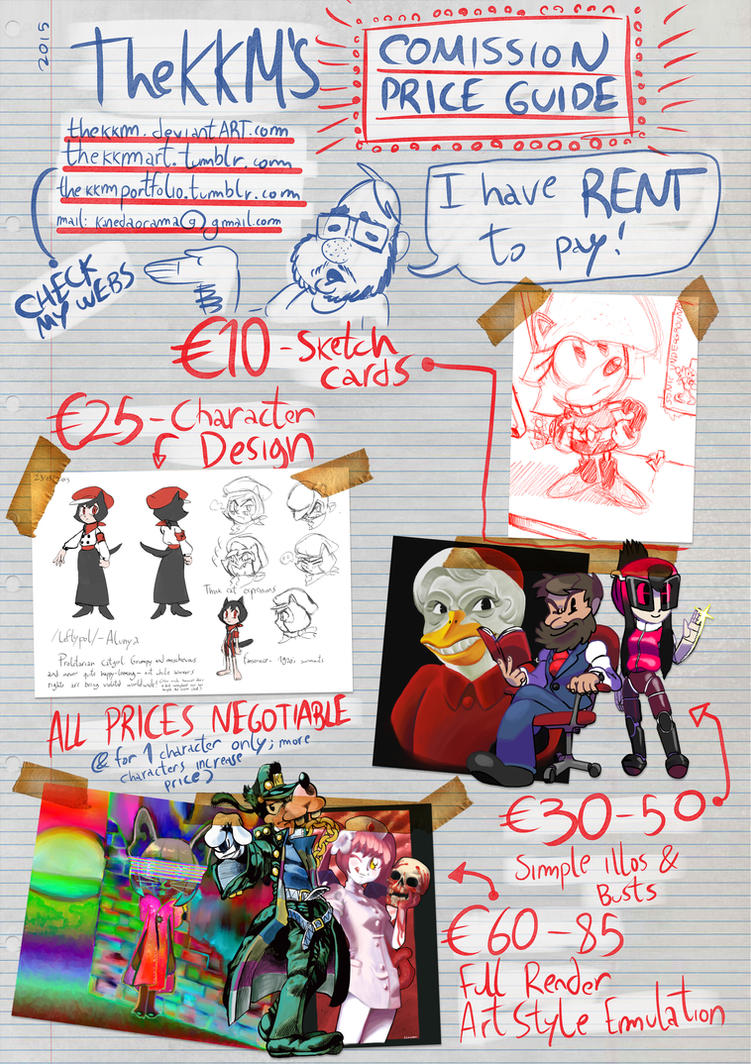 COMMISSION PRICES 2015 by TheKKM