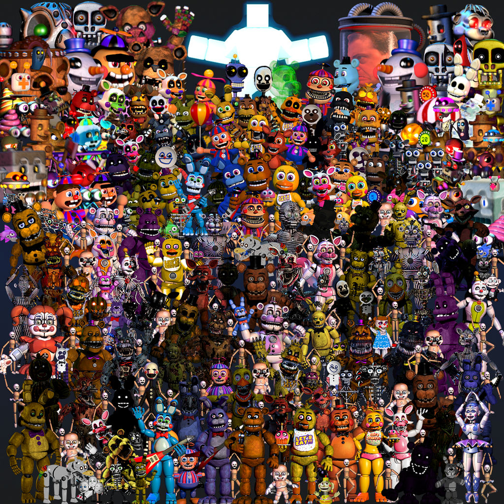 FNaF Thank You - All Animatronics by SonicTHD on DeviantArt