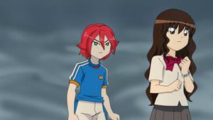 Hiroto y Kirie preocupados