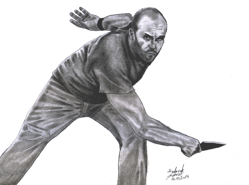 Jason Statham (The Expendables I) by unluckyfellow