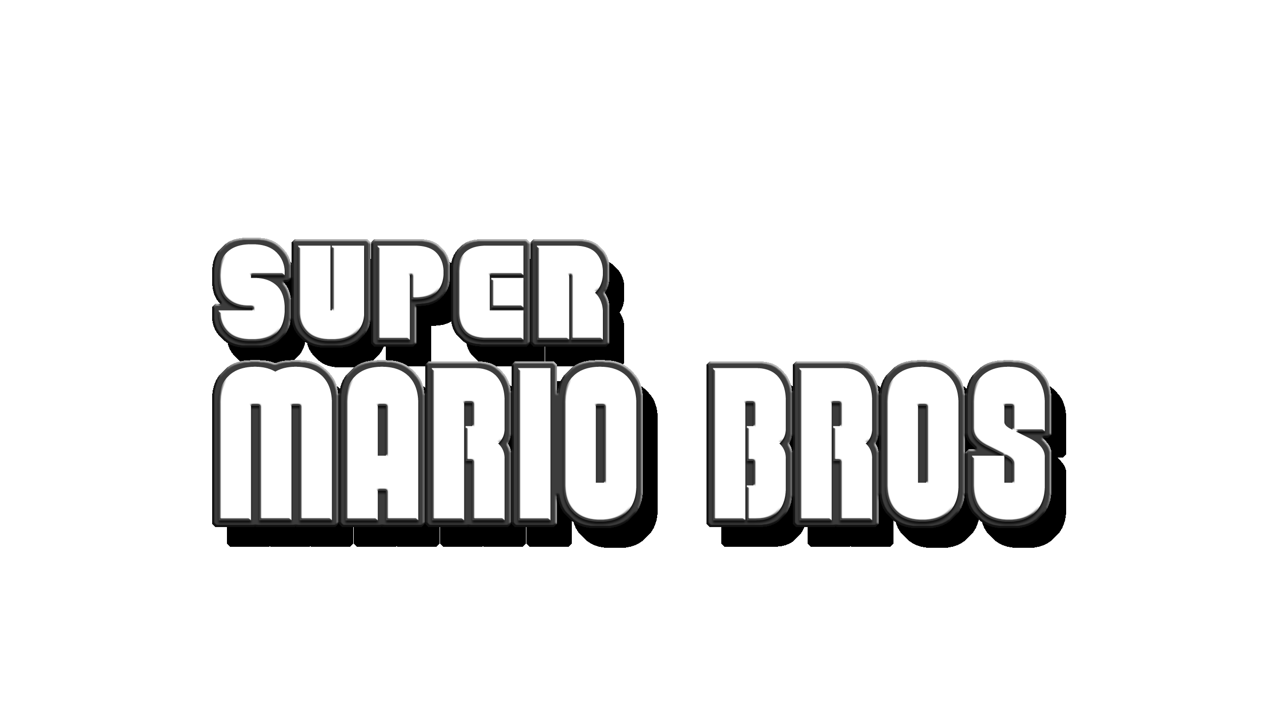 Hd Super Mario Bros Logo By Turret3471 On Deviantart