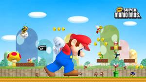 New Super Mario Bros. HD Wallpaper by Turret3471