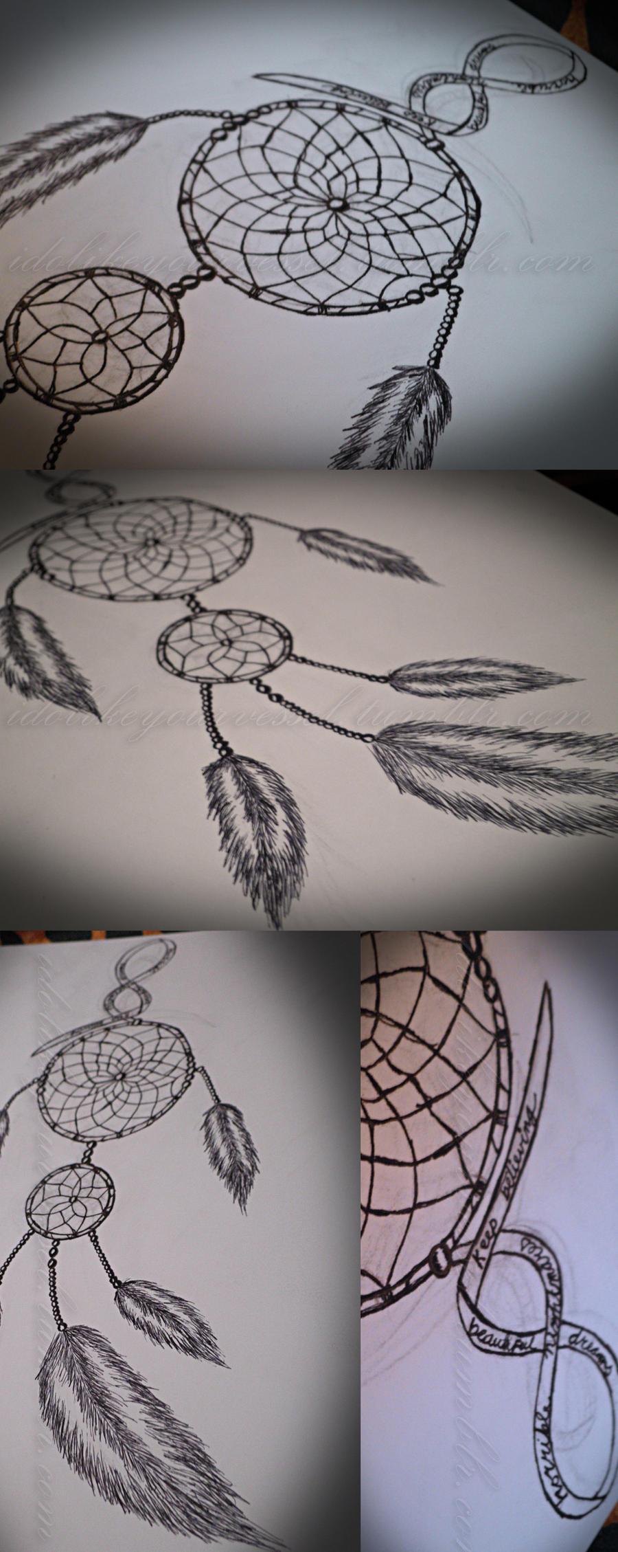 dreamcatcher tattoo design by jyrkie on deviantart. Black Bedroom Furniture Sets. Home Design Ideas