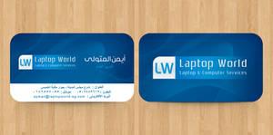 Laptop World Business Card