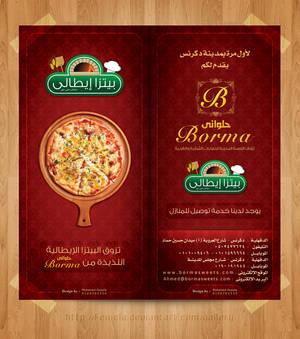 Borma Menu Pizza Brochure