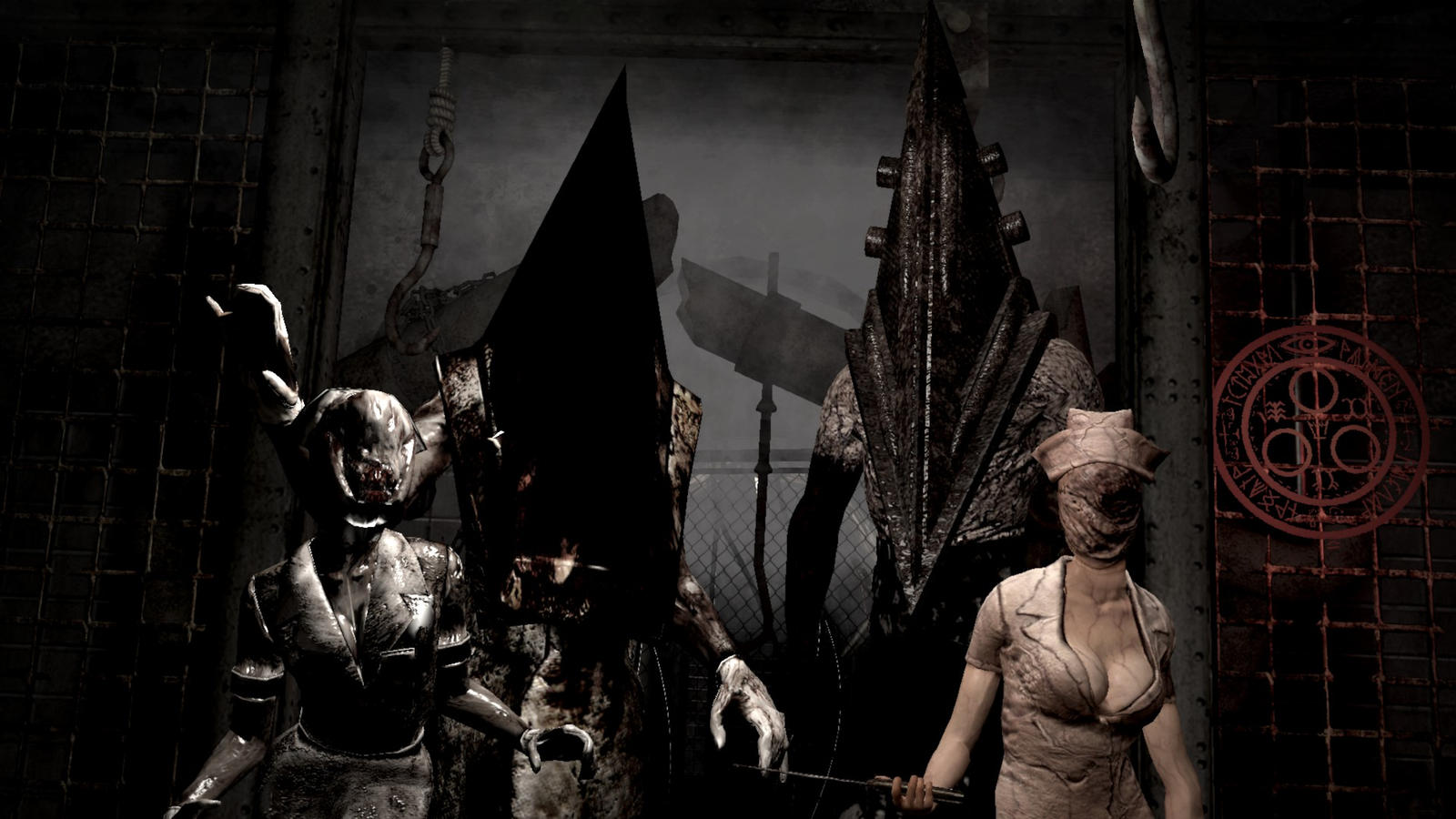 Silent Hill 2 And 5 Pyramid Head And Nurse By Scoxythepiratescout On Deviantart