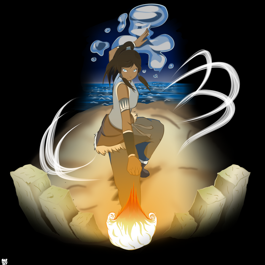 The Four Elements Bender Digital Version By Baztey On Deviantart