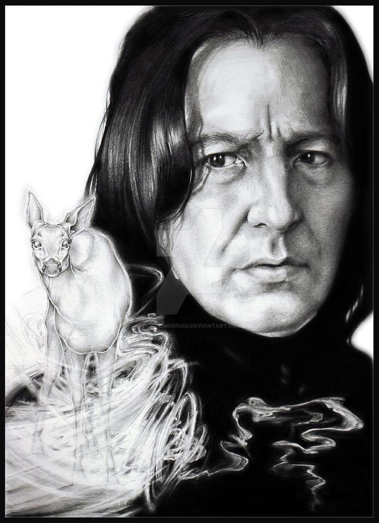 Snape's Patronus by Raven-Scribbles