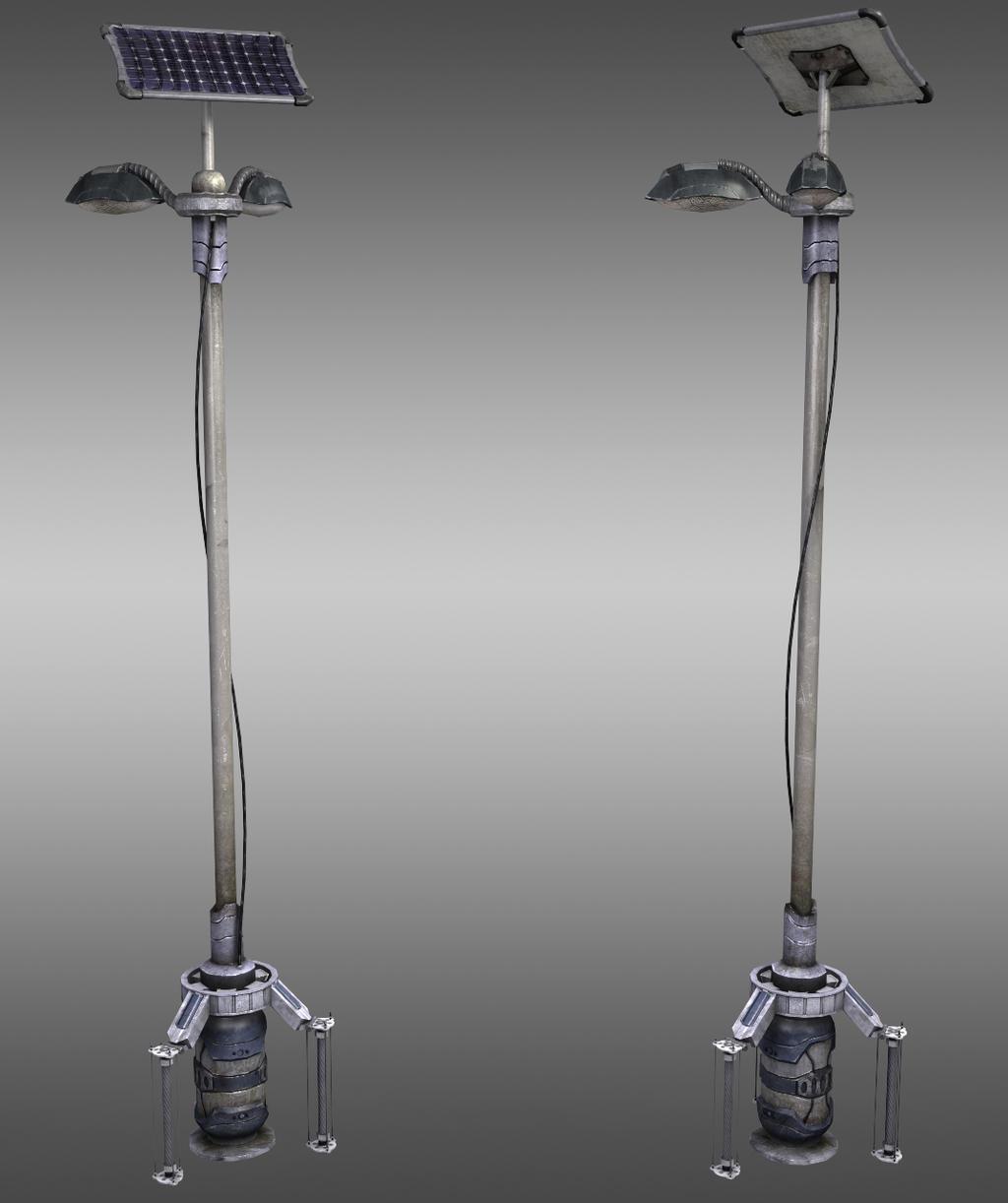 Futuristic Lightpost by Jacob-3D on DeviantArt