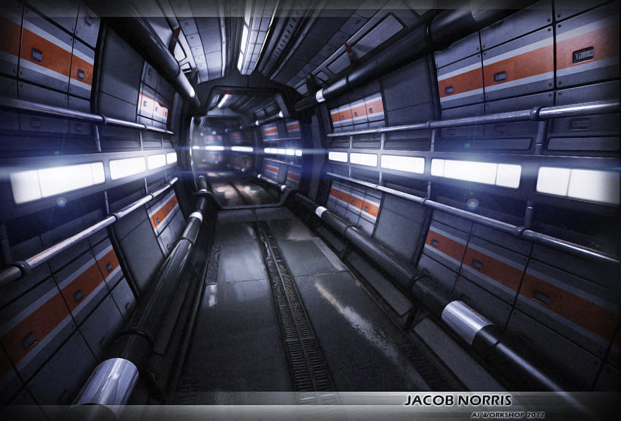 Sci-Fi Corridor Futuristic Environment by Jacob-3D on ...