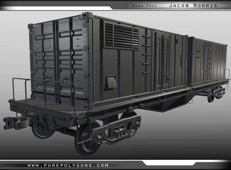 Highpoly - Train Container